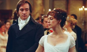 Matthew Macfadyen and Keira Knightley in PRIDE AND PREJUDICE (2005)