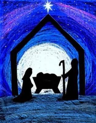 Jesus also in manger