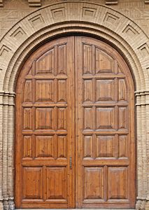 wooden-arch-round-top-exterior-door