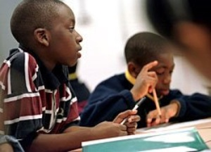 African-American-school-children