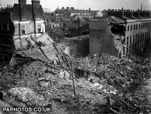 The London Blitz aftermath