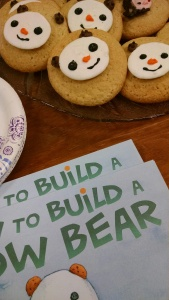 White Birch Books made bear-shaped cookies for a recent How to Build a Snow Bear book signing. The kids approved.
