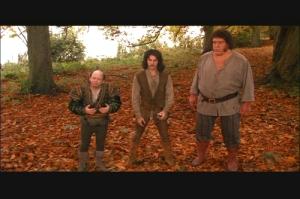 Vizzini, Inigo Montoya, and Fezzik in The Princess Bride