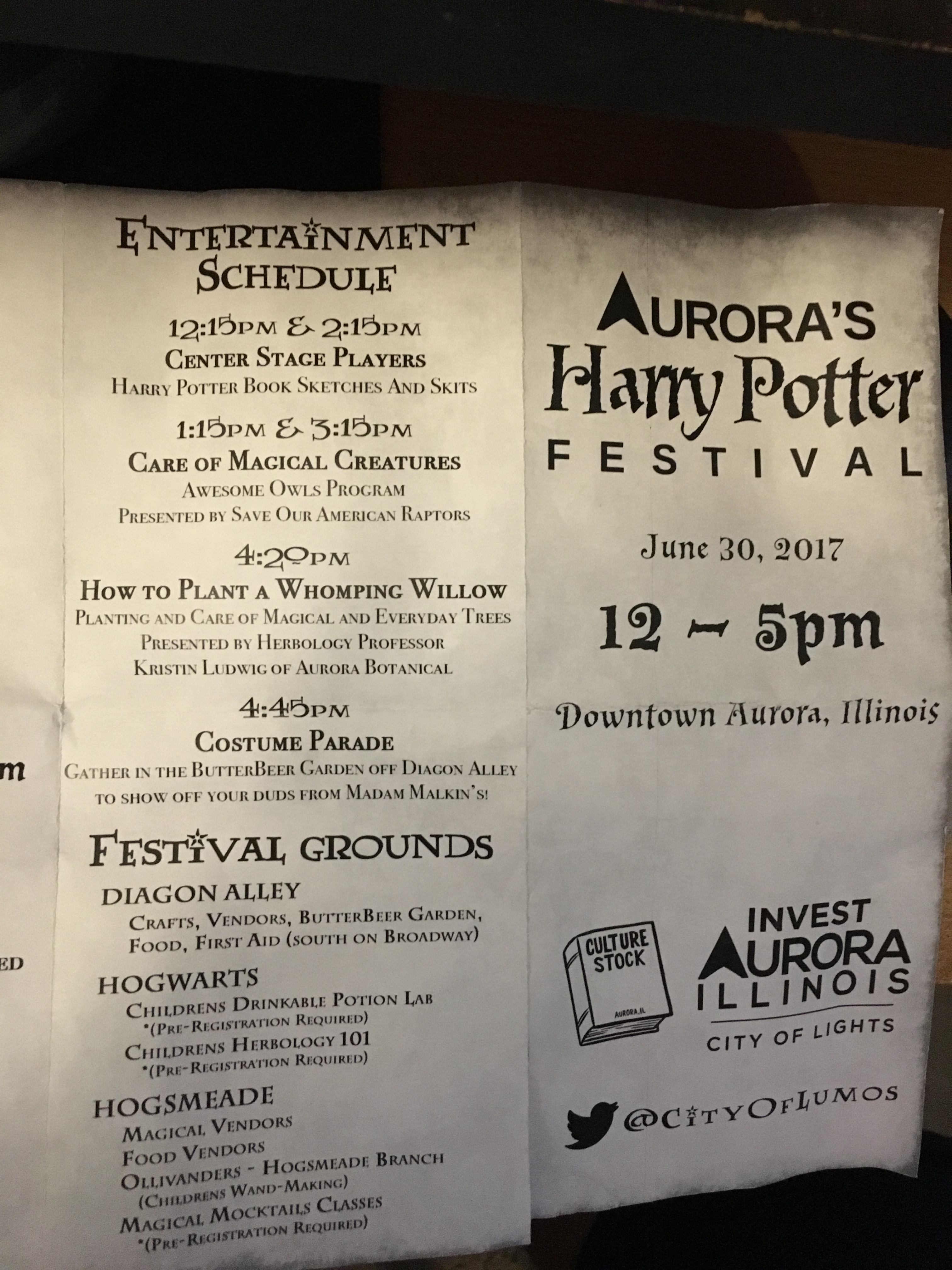 Harry potter aurora il